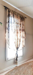 Moving Sale: Sheer gold curtain/drape with gold tassle - $10
