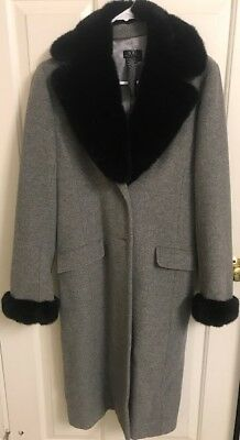 BCBG MAXAZRIA wool coat with fur trim ()