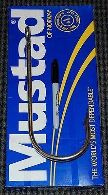 """Mustad 4480DT-160 Big Game Shark Hook Size 16/0 - 10 1/4"""" Long 4"""" Hook Gap HUGE"""