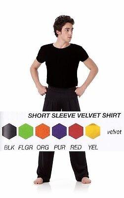 Dance Shirt Velvet Mens Boys Costume Jazz Ballet Tap Guys 6 Colors  - Boys Ballet Costumes