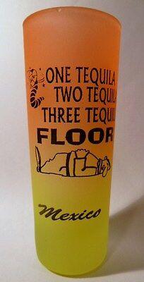 Mexico eine Tequila Neon Orange / Neongelb Shooter Schnapsglas Shotglass ()