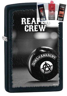 Zippo 28677 Sons Of Anarchy Reaper Lighter   Fuel Flint   Wick Gift Set