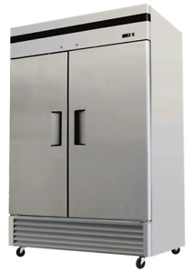 New EFI F2-54VC Two Door Solid Reach In Freezer 54""