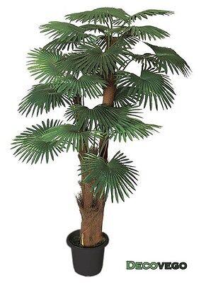 Palme Palmenbaum Fächerpalme Kunstpflanze Künstliche Pflanze 180cm Decovego
