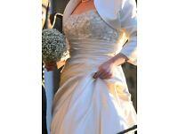 Wedding dress and jacket