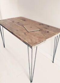 Hairpin Leg table Scandinavian Contemporary style local craftsman