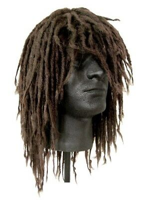 Dreadlocks Dreads Surfer DUDE Caveman Bum Bob Marley RASTA WIG Brown - Wig Dreads