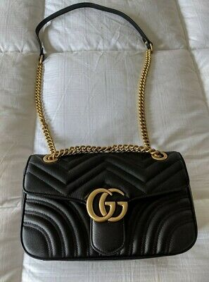 Gucci Handbag Women Marmont Leather Crossbody-Bag Shoulder Bag