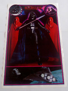 STAR WARS RETURN OF THE JEDI, DARTH VADER POSTER FROM 1983