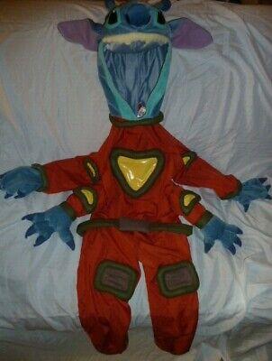 Disney Lilo & Stitch Halloween Costume Plush Alien Experiment Hooded  Sm 5/6