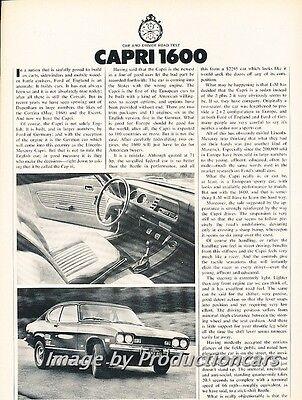 1970 1971 Mercury Ford Capri Road Test Original Car Review Print Article J701 Review Mercury Capri