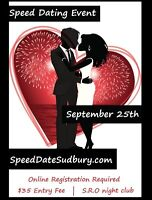 Speed Dating Event - September 25th
