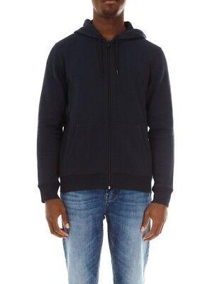 Burtons Menswear - Navy Zip Through Hoodie, Mens Small, Brand New