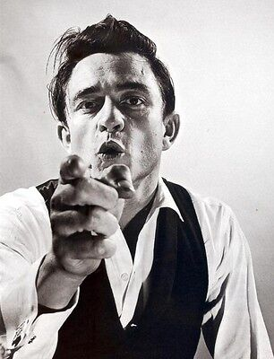 """JOHNNY CASH """"WILD"""" 8X10 MUSIC PHOTO GREAT SHOT - PICTURE"""
