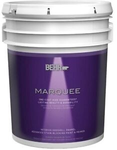 Behr Marquee EGGSHELL 5 gallon paint white Brand New