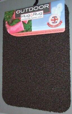 Hug Rug Outdoor Scraper Door Mat Coffee Colour - Dark Brown 74 x 50cm