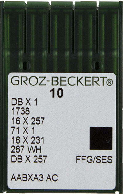 GROZ BECKERT DBx1, 16x257 Sewing Machine Needles, Juki, Singer Sz 14 SHARP POINT