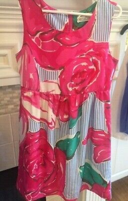 VGUC Vineyard Vines Girls size 8 Run for the Roses silk dress ](Dresses For Girls Size 8)