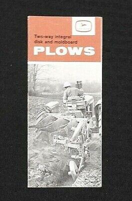 1962 John Deere Two-way Integral Disk Moldboard Plow Sales Brochure Nice