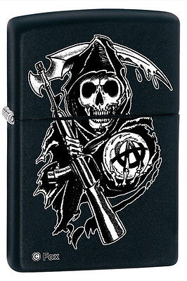 Zippo 28504 Sons Of Anarchy Black Matte Full Size Lighter