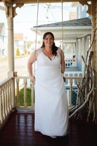 Robe de mariée et bouquetières