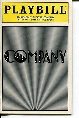 Kate Burton Jane Krakowski Danny Burstein Stephen Sondheim Company 1995 Playbill