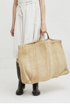- Large Natural Jute Hessian Fair Trade Shopping Bag Bags Shopper Tote Handmade