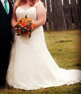 Size 22 wedding dress - price reduced