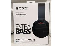 NEW Sony Premium Xtra Bass MDR-XB950BT Wireless Bluetooth/NFC Headphones-Black/Red RRP: £150