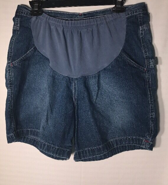 Motherhood Maternity Jean Shorts L (H29)