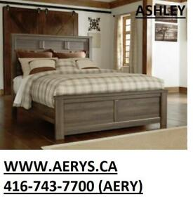 FURNITURE WAREHOUSE WWW.AERYS.CA call 4167437700  bed only starts from $129 ,We also carry Ashley Furniture