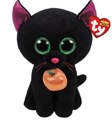"Pumpkin Cat 6"" Ty Beanie Boos Puppy Glitter Eyes Plush Stuffed Animals Toys"