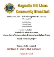 Community Breakfast Magnetic Hill Lions center