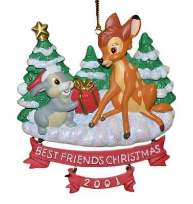 NWT 2001 DISNEY STORE BAMBI & THUMPER BEST FRIENDS CHRISTMAS ORNAMENT