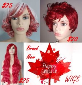 BRAND NEW: Red & White Wigs for CANADA DAY! $20-25