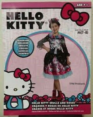 Hello Kitty Dia De Los Muertos Deluxe Child Costume *NEW FREE SHIPPING* - Dia De Los Muertos Hello Kitty