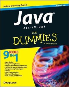 Java All-in-One For Dummies (For Dummies (Computers)), Good Condition Book, Lowe