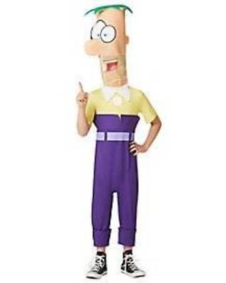 NEW Boys Disney Ferb of Phineas and Ferb Halloween Costume-size S 4/6