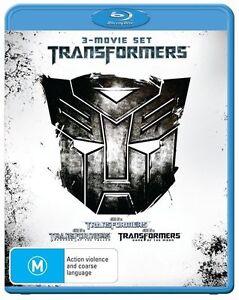TRANSFORMERS-TRILOGY-Blu-Ray-3-MOVIE-SET-3-DISC-FREE-POSTAGE