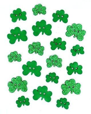 Jesse James Buttons - Dress It Up - St. Patrick's Day - Shamrocks ~ Sewing Craft