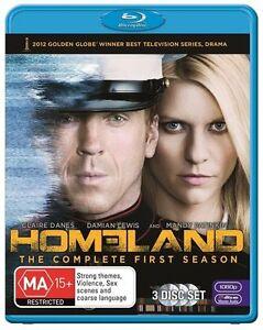 Homeland : Season 1 (Blu-ray, 2012, 3-Disc Set) NEW UNSEALED
