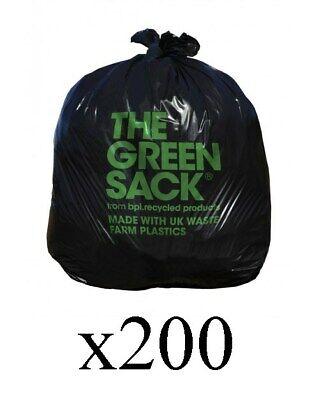 200 x The Green Extra Medium Duty Refuse Sack 965 x 737mm GR0007 Bin Liner P3BP#