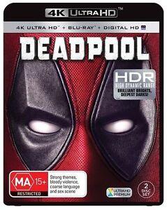 Deadpool - 4K Blu-Ray + UHD + UV : NEW 4K Ultra HD