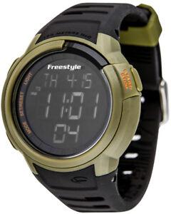 10019178 Freestyle Men's Black  Mariner Digital  Display Japanese Diver's Watch