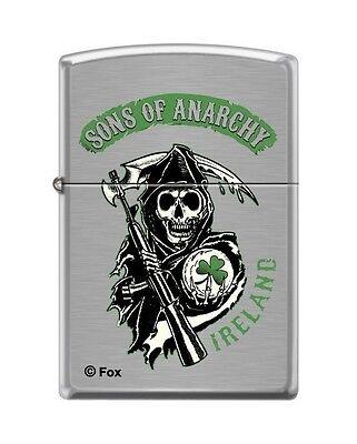 Zippo 8400 Sons Of Anarchy Ireland Brushed Chrome Finish Lighter