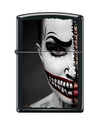Zippo 218 Half Scary Day Of The Dead Halloween Make-up Lighter