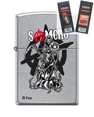 Zippo 7549 Sons Of Anarchy Samcro Lighter With  Flint   Wick Gift Set
