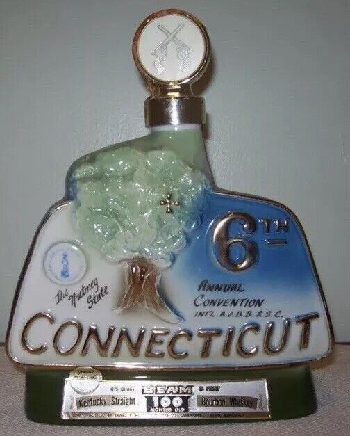 JIM BEAM 1976 6TH ANNUAL CONVENTION HARTFORD, CONNECTICUT WHISKEY DECANTER