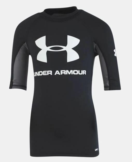 NWT NEW UNDER ARMOUR YOUTH BOYS L LARGE 14 16 RASH GUARD SWI