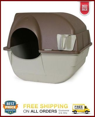 Self Cleaning Automatic Cat Litter Box Pet Kitty Pewter Scoop Roll And Clean New